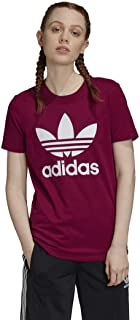 adidas Originals Women's Trefoil Tee, Power Berry/White, XL