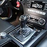 LLKUANG Black Ash Wood Grain Gear Shift Knob Head Cover for Mercedes Benz W203 W204 S204 W211 W212