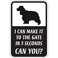 CAN YOU?マグネットサイン:イングリッシュコッカースパニエル(スモール) I CAN MAKE IT TO THE GATE IN 3 SECOND.