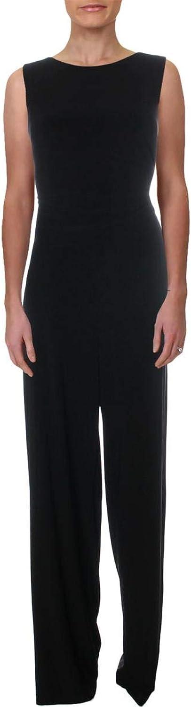 Lauren Ralph Lauren Womens Two Tone Special Occasion Jumpsuit B W 12 Black White