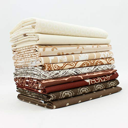 Southern Fabric Brown Fat Quarter Bundle (10 pcs)