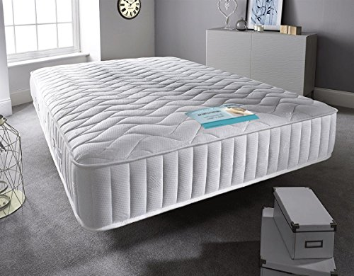 Sleep Factory - Double Mattress Sprung Memory Foam Mattress. Sprung Mattress With A Layer Of Memory Foam Memory Foam Mattress Knitted Stretch Micro Quilted Fabric. Fast (4FT6 Double)