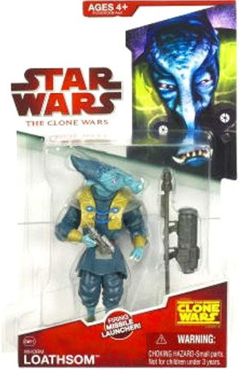 Hasbro Star Wars Clone Wars Animated Action Figure General Whorm Loathsom