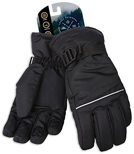 Tough Outdoors Winter Snow & Ski Gloves - Designed for Skiing, Snowboarding, Shredding, Shoveling & Snowballs - Waterproof & Windproof Shell & Reinforced Palm - Fits Men, Women & Kids (Medium)