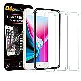 OAproda iPhone SE 第2世代 / 8 / 7 / 6 / 6s 強化ガラス保護フィルム 2枚セット ガイド枠付き 4.7inch