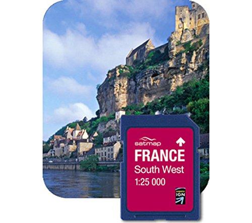 Satmap Fr-cy-25-sd-004 Carte Système GPS pour France du Sud-Ouest Echelle 1/25000