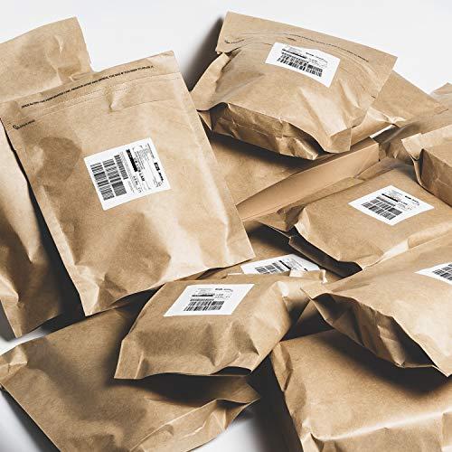 RUSPEPA Kraftpapier Poly Umschläge Mailer, Selbstklebende Versandtaschen, 100% Recycelbar, Wiederverwendbare Verpackung Tolle Idee Für T-Shirt Kleidung Versandtasche - 29,2 X 39,4 cm - 25 Stück