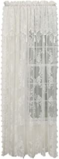 Style Master Renaissance Carley Lace 56-Inch by 63-Inch Panel with 17-Inch Attached Valance, Ecru