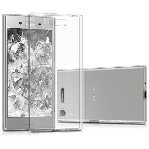 kwmobile Funda Compatible con Sony Xperia XZ1 - Carcasa de TPU para móvil - Cover Trasero en Transparente