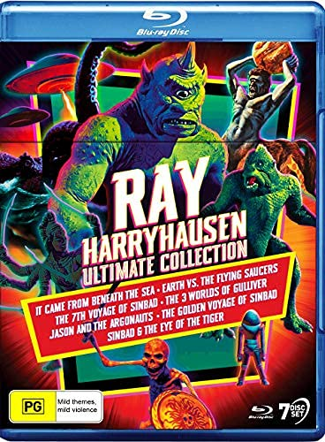 Ray Harryhausen: Ultimate Collection - 7-Disc Boxset ( It Came from Beneath the Sea / Earth vs. the Flying Saucers / The 7th Voyage of Sinba [ Origine Australiano, Nessuna Lingua Italiana ] (Blu-Ray)