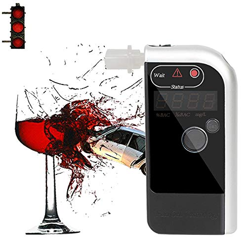 LJJJKCYS Alkoholtesterprofessioneller und tragbarer Alkoholdetektor Elektrochemische Sensoren Alkoholtester LCD-Bildschirm
