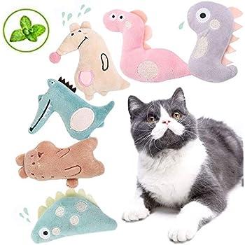 BarleyCorn 猫おもちゃ 猫のおもちゃ ねこじゃらし 猫噛みおもちゃ キャットニップぬいぐるみおもちゃ またたびぐるみ 人気 一人遊び 歯垢除去 耐久性 無害 肥満解消 興奮した猫 (6点セット)