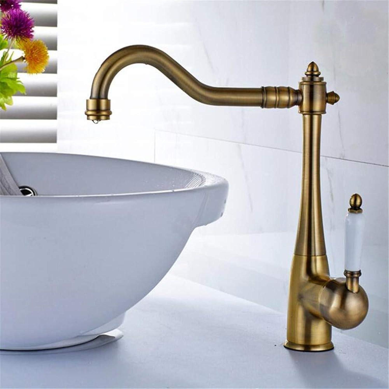 Basin Mixer Tap ?All Copper Green Bronze Ceramic Handle redatable Hot Water Tap European Retro Cold Basin Above Counter Basin Faucet