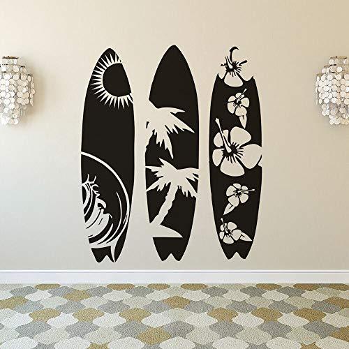 Zdklfm69 Adhesivos Pared Pegatinas de Pared Tabla de Surf Dormitorio Sala de Estar Playa de Verano Tabla de Surf Deporte Habitación para niños Vinilo Mural 60x240cm