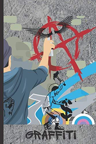 Anarchy, Graffiti: Anarchy, Graffiti Notizbuch - Tolles liniertes Anarchie Notizbuch - 120 linierte Seiten um Notizen, Ideen und Gedanken festzuhalten | ca. DINA5 | Geschenk für Punks und Anarchisten