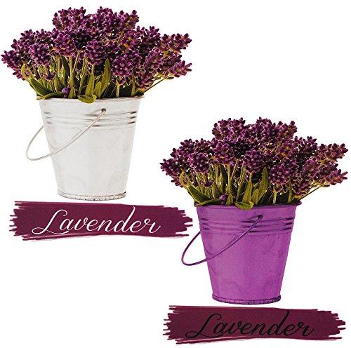 alles-meine.de GmbH 4 TLG. Set _ XL Fensterbilder -  Lavendel / Toskana  - Sticker Fenstersticker Aufkleber - selbstklebend + wiederverwendbar - Fensterbild / z.B. für Fenster ..