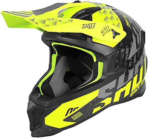 Shot Lite Carbon Rush Casco Motocross Giallo fluo