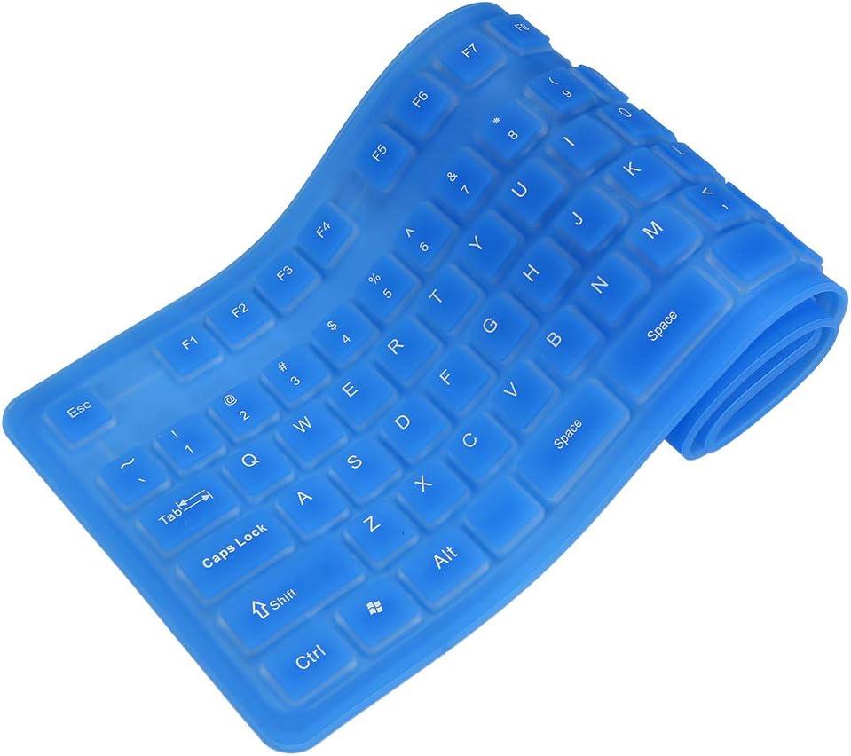 Fesjoy Flexible Foldable Max 90% Many popular brands OFF Keyboard 108 USB Silicone Keys Flexibl