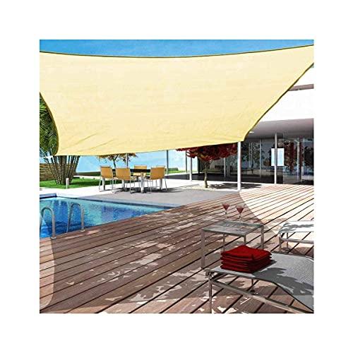Parasol de vela rectangular impermeable/cuadrado para patio toldo al aire libre Parasol de vela Paño de sombra beige 3x4m (10x13ft)