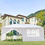 Gazebo da giardino, resistente, tenda a baldacchino con pareti per casa, esterni, matrimoni, campeggio, terrazza, barbecue, feste (dimensioni: 3 x 6 m, sei lati (due porte)