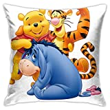 wuhandeshanbao Winnie The Pooh and Friends Pillowcase Covers 18x18 Decorative Sofa Seat Car Soft