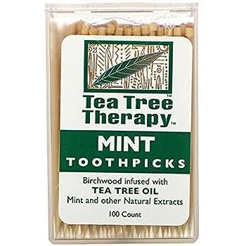 Tea Tree Therapy Toothpicks Mint Tea Tree 100 Count