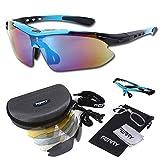 (フェリー) FERRY 偏光レンズ スポーツサングラス フルセット専用交換レンズ5枚 ユニセックス ネオンブルー/ブラック