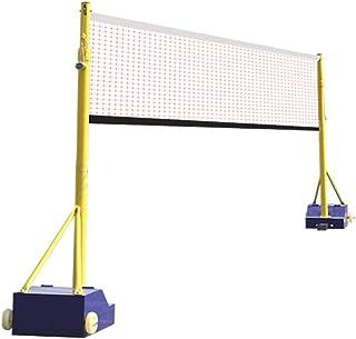 YILANJUN Utomhus Badminton nätstativ set med dubbla bollnät, avtagbar badmintonkolumn, badmintonpost, badmintonstolpar