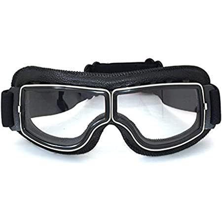 Piwear Motorradbrille Schutzbrille Toronto Schwarz Mit Klarem Glas Auto