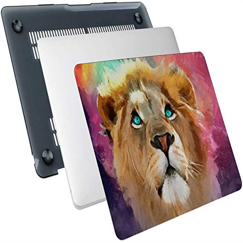 Macbook Air 11 Case Ferocious Beast Art Lion Oil Painting Plastic Hard Shell Compatible Mac Air 13' Pro 13'/16' Case Macbook Pro 15 Protective Cover For Macbook 2016-2020 Version
