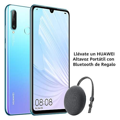 "Huawei P30 Lite - Smartphone de 6.15"" (WiFi, Kirin 710, RAM de 6 GB, memoria de 256 GB, cámara de 48+2+8 MP, Android 9) Breathing Crystal + CM51 Gris"