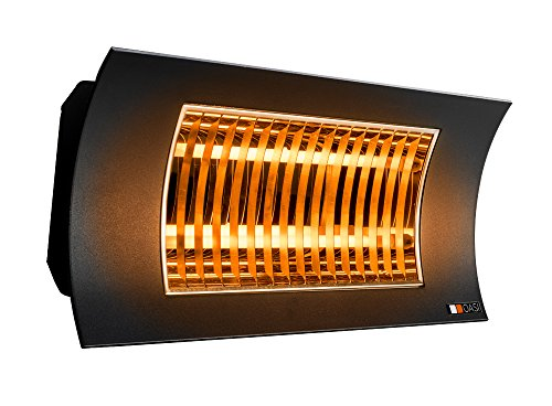 Radialight® SQBAL001 Lampada Infrarossi OASI 2000W Bassa Luminescenza Nera con Telecomando Stufa...