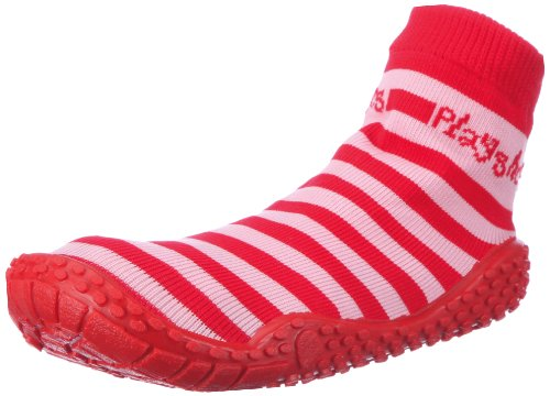 Playshoes Jungen Socke Streifen Aqua Schuhe, Rot (rot/rosa 788), 18/19 EU