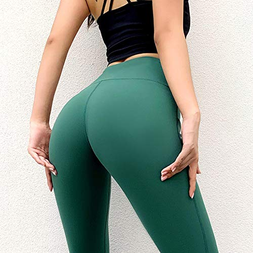 MItrilifi2ALL Pantalones De Yoga Pantalones De Yoga para Mujer, con Bolsillo, Breatahble, Push Up, Fitness, Mallas Deportivas, Entrenamiento, Correr, Gimnasio, Mallas para Exteriores, Mujer S Verde