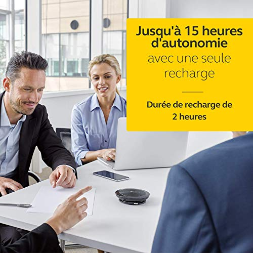Jabra Speak 510 UC Wireless Bluetooth Speaker for Softphone and Mobile Phone – Easy Setup, Portable Speaker for Holding Meetings Anywhere with Outstanding Sound Quality (Renewed)