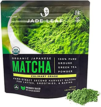 Jade Leaf Organic Matcha Green Tea Powder - Authentic Japanese Origin - Premium Second Harvest Culinary Grade  1.06 Ounce