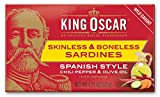 King Oscar Skinless & Boneless Sardines Spanish Style, 4.23 Oz (Pack of 12)
