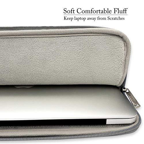 TECOOL 15,6 Zoll Laptoptasche Hülle Notebooktasche Schutzhülle Sleeve Case für HP Dell Lenovo Thinkpad Ideapad Acer ASUS Laptops Notebooks, Grau