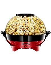 Gadgy Popcornmachine Rond - Groot l 800W | Popcorn Maker met antiaanbaklaag en afneembare bakplaat l Snel en stil l Inhoud 5 liter