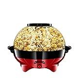 Gadgy  Popcornmaschine l 800W Popcorn Maker mit Antihaftbeschichtung und Abnehmbares Heizfläche l Still und Schnell l Inhalt 5 Liter
