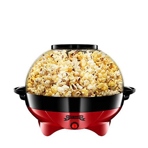 Gadgy ® Macchina Pop Corn l Rivestimento Antiaderente l Silenzioso e Rapido l 5 Litri