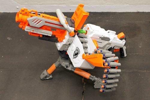 NERF N-Strike Elite Vulcan/Havok Fire EBF25 Dart Blaster (Blue & White)