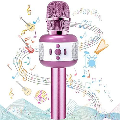 Microfono Karaoke,Wireless Bluetooth Microfono per Bambini Portatile Karaoke Mic altoparlante Macchina Natale Compleanno Festa a casa che cantano Giocattoli Regali per PC iPhone PC smartphone Android