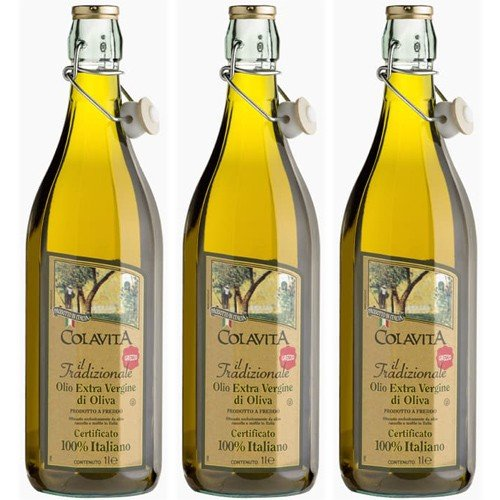 3x Colavita Olivenöl Extra Vergine \'Il Tradizionale\' 100{2b0055ba0327187a8e3f3f20570aacc81955086a841279d7c426dd6ff45f8389} Italiano, 1000 ml
