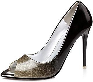 Ying-xinguang Shoes Fashion Single Shoes Pointed Stiletto Women's Shoes Women's Fish Mouth Mouth High Heel Comfortable