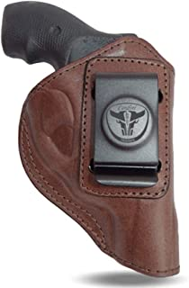 Cardini Leather USA - IWB Leather Holster - Concealed Carry - for S&W J Frame, S&W Models 442 and 642 Airweight, 637, 638, 640 and Other Snub Nose Revolvers in .38 Special