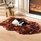 Soft Faux Fur Pet Bed Mat Plush and Fluffy Pet Pad Ultra Cozy Pet...