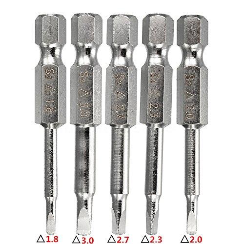 Yakamoz 5pcs 1/4 Inch Hex Shank Magnetic Triangle Head Screwdriver Bits Set