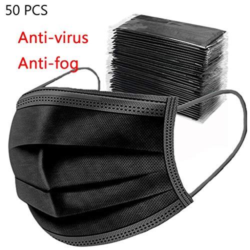 TINGB 50 Stück Staub- Und Pollenfeste Einwegverpackung, Bequem Und Atmungsaktiv (3 Schichten)