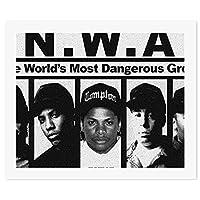 N.W.A Ice Cube MC Ren DJ Yella Dr. DreDIY 数字油絵 キャンバスの油絵 手塗り 57* 47 cm 絵画 大人の子供のためのギフト 数字キットでペイント インテリア アートフレーム ホームデコレーション